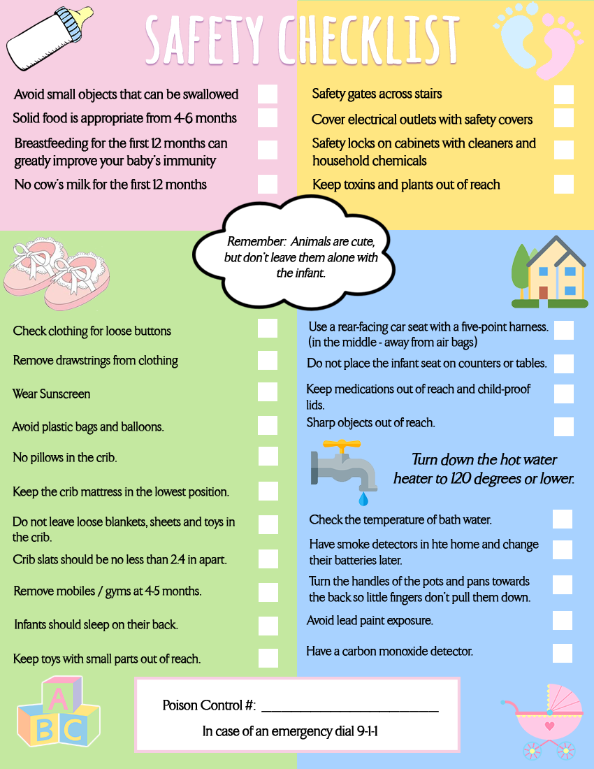 Infant Safety Checklist